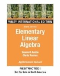 Elementary Linear Algebra: WITH Applications